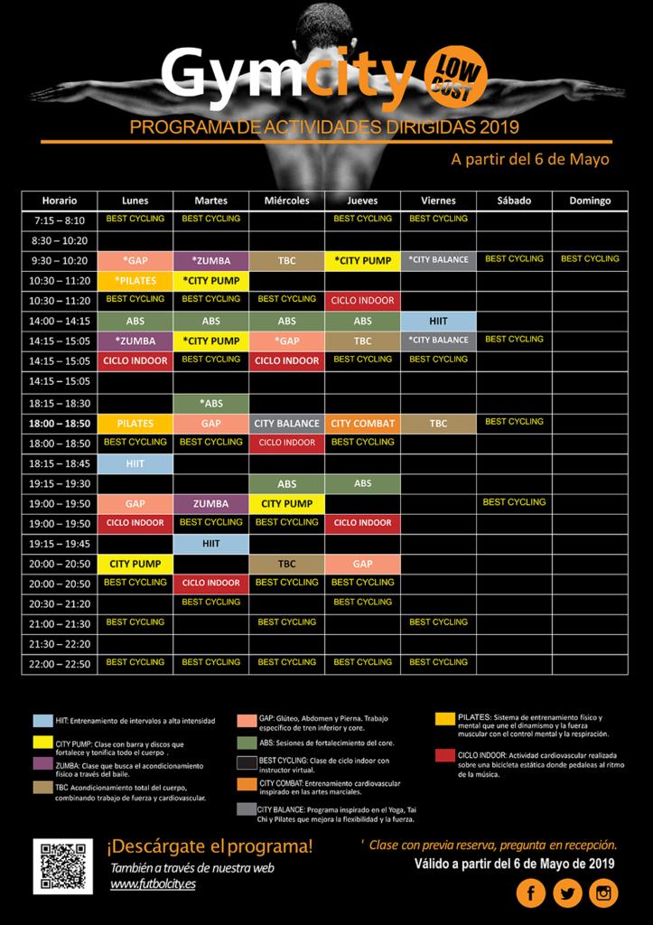 horarios gym 2019